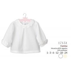 Camisa manga larga puntilla-CLI-17131-Calamaro Baby