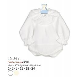 Body camisa manga larga cuello volante seul-CLI-19047-Calamaro Baby