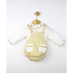 Conjunto bebé jersey cuello bebé y pantalón corto Estrella-23572 Popys
