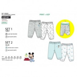 Pack 2 pantalones 100% algodón MICKEY Bebe niño