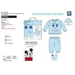 Pijama largo en caja 100% algodón MICKEY Bebe niño