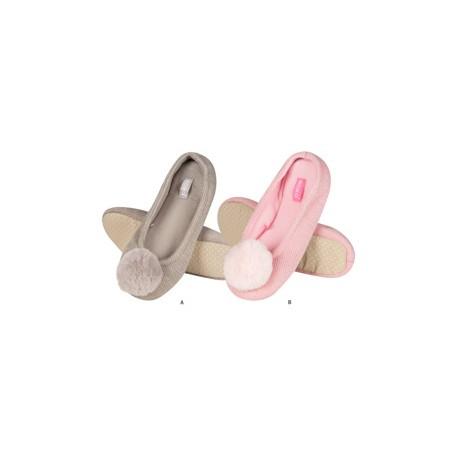 Zapatillas descanso pompon rellenoi suave