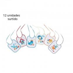 Babero rizo plastificado 20 x 25 cm-IBI-132-Interbaby