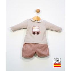 Conjunto bebé 2 piezas: sudadera cuello bebé y pantalón