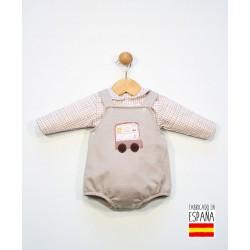 Conjunto bebé 2 piezas: peto corto y camisa manga larga