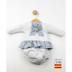 Conjunto 2 piezas bebé: jesusito y cubrepañal-ALM-25492-Tony