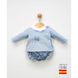 Conjunto 2 piezas bebé: jesusito y cubrepañal-ALM-25620-Tony