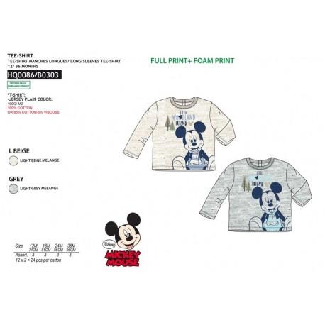Camiseta ml 100% algodón MICKEY Bebe niño