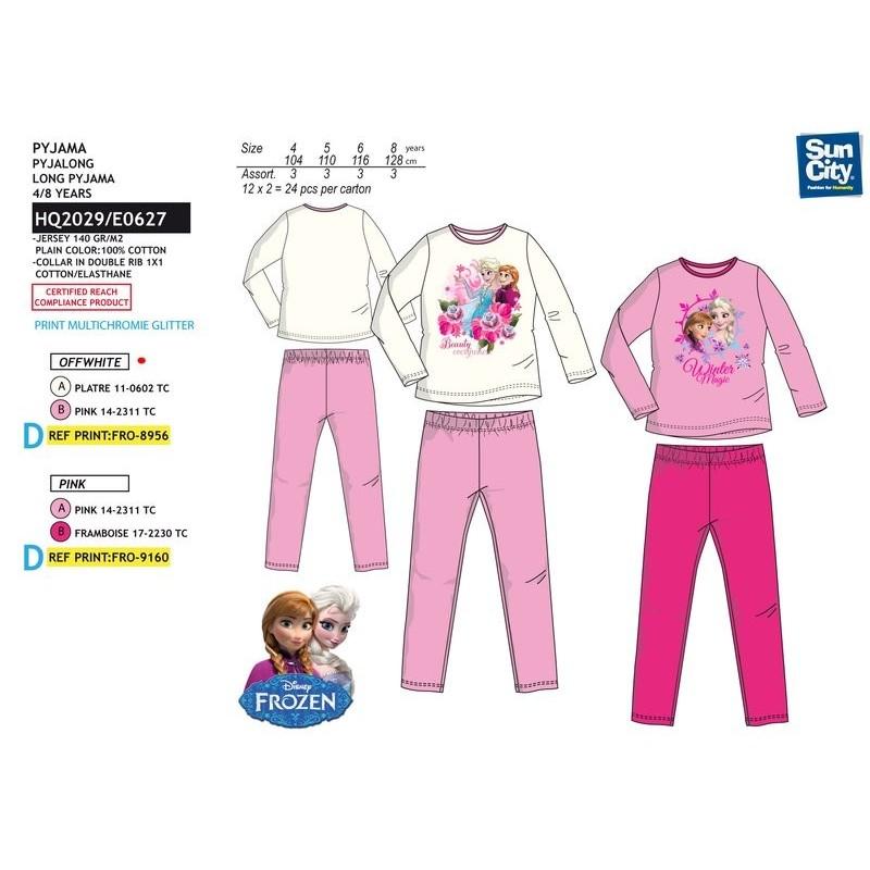 f6f76d273294 Pijama largo 100% algodón FROZEN Niña
