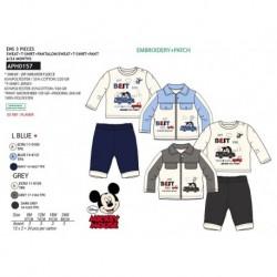 Set 3 pzas camiseta ml, sudadera y pantalón 65% pe / 35% algodón MICKEY Bebe niño