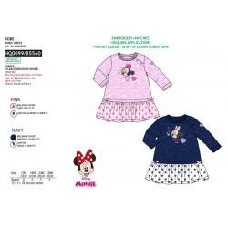 Vestido manga corta 80% pe / 20% algodón MINNIE Bebe niña