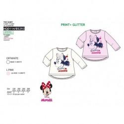 Camiseta ml 100% algodón MINNIE Bebe niña