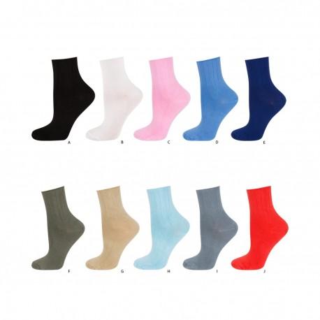 Calcetines lisos tejido modal: suaves y elásticos/antipresión - Soxo - SXV-97247