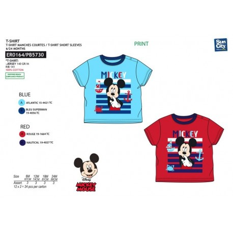 Camiseta mc 100%algodon MICKEY Niño