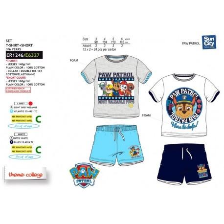 Conjunto camiseta&short 100%algodon PAW PATROL Niño