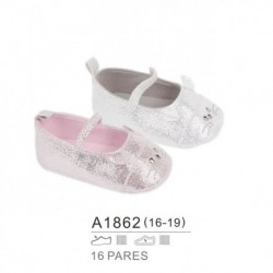 Zapatos bebe acabado brillos - Bubble - BB-A1862