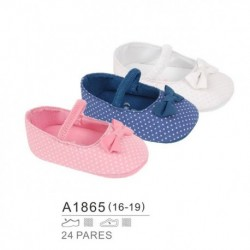Zapatos bebe estilo francesitas con topitos - Bubble - BB-A1865