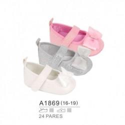 Zapatos bebe detalle lazo extragrande y cierre velcro