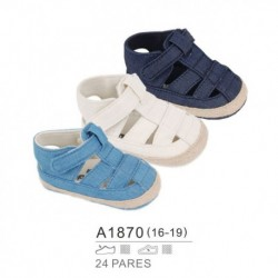 Zapatos bebe de verano y cierre velcro