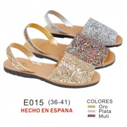 Menorquina estampado multi y brillos (made in spain)