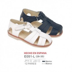 Sandalias lisas cierre velcro (made in spain) - Bubble - BB-E051-L