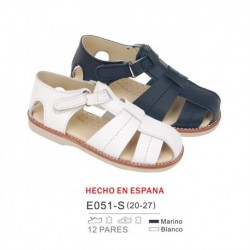 Sandalias lisas cierre velcro (made in spain) - Bubble - BB-E051-S
