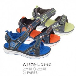 Sandalias sport estilo playeras con luces y cierre velcro - Bubble - BB-A1879-L