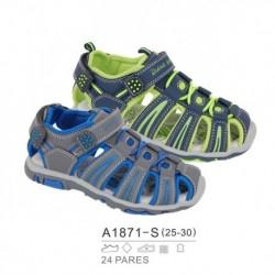 Sandalias sport estilo playeras cierre cordones y velcro - Bubble - BB-A1871-S