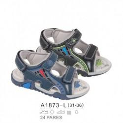 Sandalias sport estilo playeras cierre velcro - Bubble - BB-A1873-L