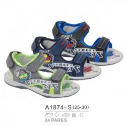 Sandalias sport estilo playeras cierre velcro - Bubble - BB-A1874-S