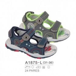 Sandalias sport estilo playeras cierre velcro - Bubble - BB-A1875-L