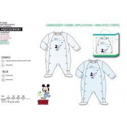 Pelele BabyMickey 65% algodón/35%PE EN CAJA