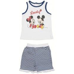 Conjunto 2 pcs short & camiseta 100% algodón MINNIE Bebe niña