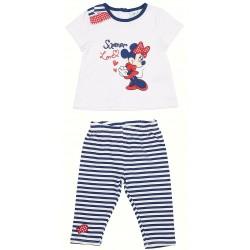 Conjunto 2 pcs camiseta & legging 100% algodon MINNIE Bebe niña