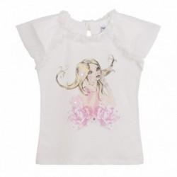 Camiseta chiqui en el flor rosa