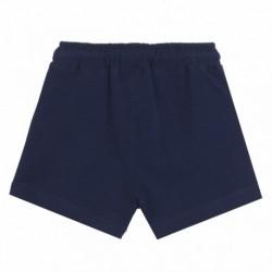 Short algodón rizo cintura de cordón con estrella