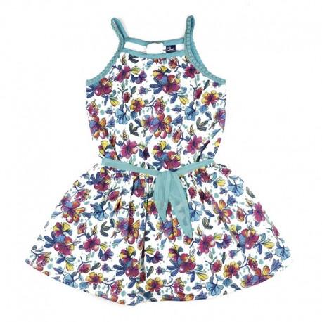 SMV-181153 Mayorista de ropa infantil Flowers Vestido Niña -