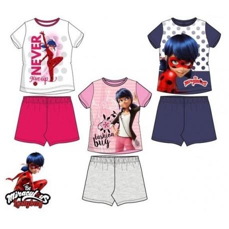 Pijama corto 100%algodon LADY BUG Niña