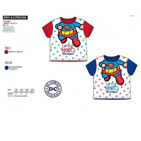 Camiseta mc 100%algodon DC COMICS Niño