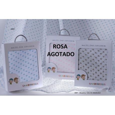 GBV-9981 gamberritos al por mayor Muselina Corazones -