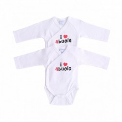 Bodys abrochados i love abuelo&a pack de 2pc 100% algodón - Newness - NBI77152