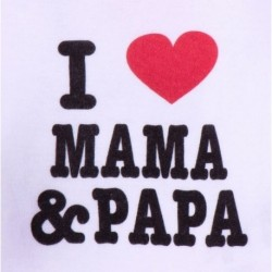 Pack 2pcs body i love dad & mun