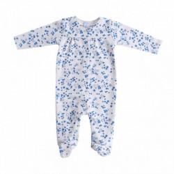 Pijama gordo estampado de estrellitas azules 100%algodon