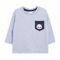 Camiseta con bolsillo panda