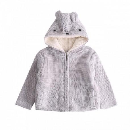 Chaqueta tricot con capucha de osito - Newness - BBI87074