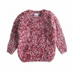 Jersey tricot puntos de colores rojos y blancos