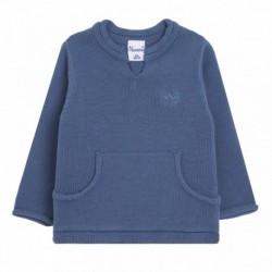 Jersey cuello redondo con 2 bolsillos - Newness - BBI88007