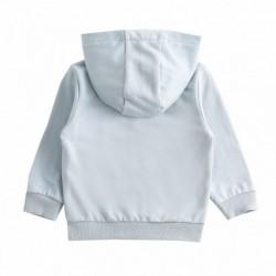 Conjunto chandal, sudadera felpa rizo con capucha+pantalon con detalle nb algodón 100%