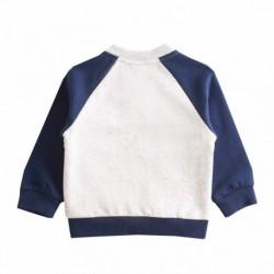 Conjunto chandal,sudadera fleece brushed con detalle nb cremallera+pantalon liso marino algodón 100%