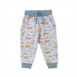 Pantalon deportivo fleece brushed estampado cochecirtos amarillos